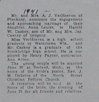 HaroldCaskey-weddingannouncement